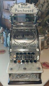 Antique National Cash Register model 5 Fleur De Lis Special