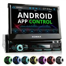 AUTORADIO CON 18cm TOUCHSCREEN BLUETOOTH DVD CD USB SD AUX-IN MP3 SINGOLO 1DIN