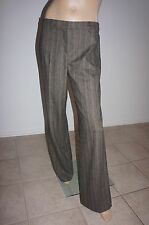 NEW GUNEX Brown Wool Wide Legs Dress Pants Sz IT 46/US 10