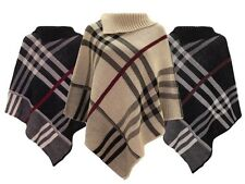 New Ladies Women Poncho Shawl Top Cardigan Winter Jacket Hoodie Scarves Cap