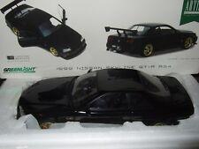 NISSAN SKYLINE GT-R R34 schwarz 1999 von GREENLIGHT 1:18 NEU & OVP