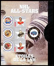 2001 NHL ALL-STAR COMMEMORATIVE STAMP SET BOBBY HULL APPS SHORE POTVIN SAWCHUCK
