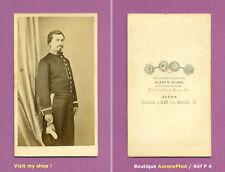 CDV ALARY & GEISER, ALGER : MILITAIRE OFFICIER  SERVICES ADMINISTRATIFS 1865 -P4