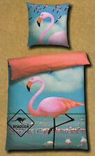 Roadsign Bettwäsche Flamingo - Flamingos, Meer - 155 x 220cm Übergröße Baumwolle
