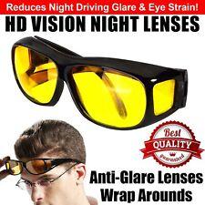 Night Vision Eye Strain Driving Glasses Polarized Anti Glare Yellow HD Sunglass