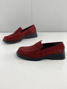 Regatta Sport Women's Casual Comfort Suede Flat Shoes Size 7.5 Red