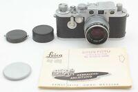 【MINT】Leica IIIf Red Dial Self Timer Black Belt Nikon 50mm 5cm F2 L39 from JAPAN