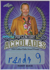 2018 POP CENTURY ACCOLADES AUTO: RANDY QUAID #/15 AUTOGRAPH NATIONAL LAMPOON/SNL