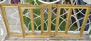 Vintage PICTURE FRAME SET Lot gold wood ornate gesso art 10x13 Portraits