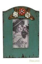 Vintage French Blue Floral Handpainted Photo Picture Frame 14 X 20 Cm
