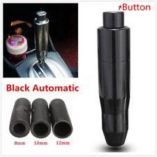 Aluminum Black Button Universal Automatic AT Car Gear Shift Knob Shifter Lever