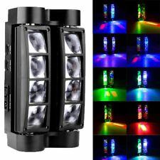 Spider Moving Head Stage Lighting Beam DMX Disco Party DJ Light 80W RGBW 8 LEDs