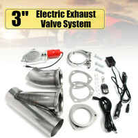 3'' 76mm Electric Exhaust Catback Downpipe E-Cut Cutout Valve Kit Remote System