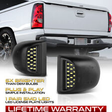 1999-2013 Chevy Silverado/GMC Sierra BRIGHT SMD LED License Plate Lights Lamps
