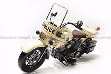 Handmade 1976 Harley Davidson Electra Glide Police 1:8 Antique Style Metal Model