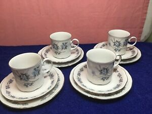 Mitterteich Bavaria Made In Germany Forget  Me Not Trio X 4