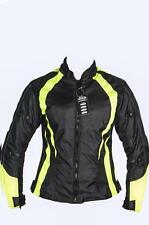 Ladies Armoured Water Proof Cordura Textile Motorbike Motorcycle Jacket HighViz