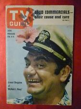 New York State February 9 TV GUIDE 1963 McHALES NAVY Borgnine Vivian Vance Lucy