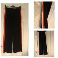 River Island Stripe Trousers Culottes Orange Black White Size 8