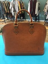 Louis Vuitton Epi Alma PM Brown Leather Bag LV