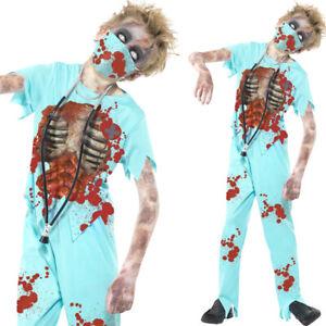 Kids Zombie Surgeon Costume Boys Halloween Fancy Dress