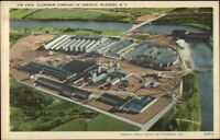 Massena NY Aluminum Co of American Aerial View Linen Postcard