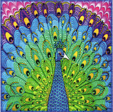 PEACOCK SPREADING - BLOTTER ART Psychedelic Perforated Acid Free Art Tabs Page
