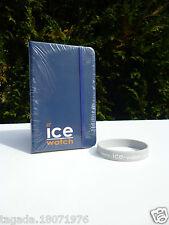 🍓 Bloc Note Neuf Ice Watch Couleur Bleu Marine Vendu  Avec Un Bracelet Gris