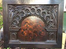 INLAID ENGLISH OAK TESTER BED PANEL CIRCA 1580 COFFER BIBLE BOX 16TH CENTURY