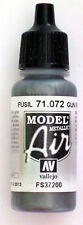 Vallejo Model Air Paint: 17ml  71072 Gun Metal