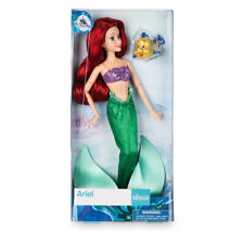 "DISNEY NEW 2017 PRINCESS ARIEL CLASSIC DOLL  12"" WITH FLOUNDER"