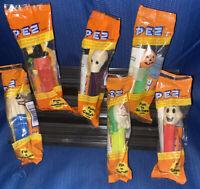 Bundle Lot 6 Vintage Pez Halloween Witch Pumpkin Skull ALL 3 Non GID Ghosts NEW