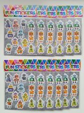 12 x Robot Stickers Sheets- Party Bag Fillers Wedding/Kids/piñata/Toy/birthday
