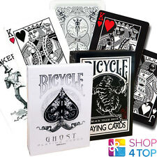 2 DECKS BICYCLE ELLUSIONIST 1 GHOST WHITE AND 1 BLACK TIGER PLAYING CARDS NEW