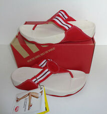 FITFLOP New Ladies Womens Walkstar Shoes Flip Flops Red Sandals RRP £85 Size 8