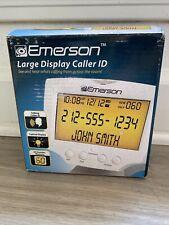 Emerson Large Back-lit Display Talking Caller ID, three language operation