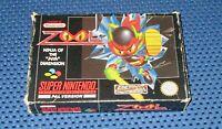 "Zool - Ninja of the ""Nth"" Dimension / SNES, OVP, Anleitung - Gremlin 1992"