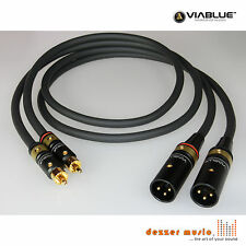 ViaBlue 2x 1m Adapterkabel NF-S1 T6s / XLR Cinch male / High End…mit Bestnote