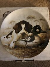 Knowles Dog Tired The Springer Spaniel Plate In Box With Coa