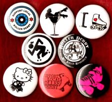 ROLLER DERBY 8 NEW button pin badge support local heart LOVE girl riot grrrl
