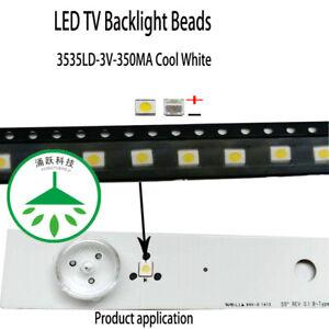100pcs led 3535 3v 1w lamp bead cool white for repair lcd tv backlight strip hot