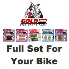 "Sintered Full Set Goldfren Pads MZ Mastiff 660 17"" Front/"