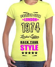 Hüftlange Damen-T-Shirts mit Motiv keine Mehrstückpackung