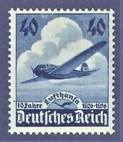 DR Nazi 3rd Reich Rare WW2 WWII Stamp Hitler 10 Lufthansa Avia Air Mail Swastika