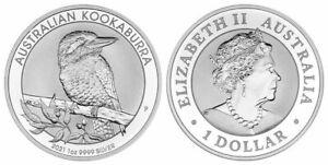 Australien - 1 Dollar Kookaburra 2021 |1oz 999 Fein-Silber