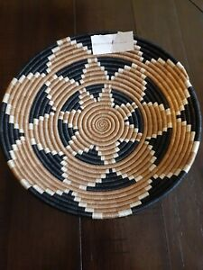 SISAL ,TAUPE/WHITE  And black INTORE DECORATIVE BOWL From africa