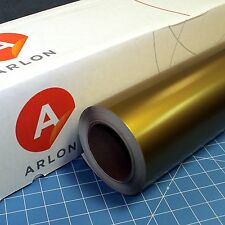 "Gold Metallic Arlon 5000 24"" x 30' Ft Roll of Craft and Sign Vinyl"