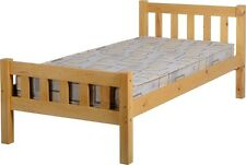CARLOW SINGLE 3ft SOLID ANTIQUE PINE WOOD BED FRAME