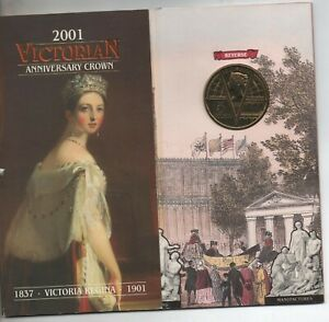 2001 QUEEN VICTORIA FIVE 5 POUND COIN IN ROYAL MINT PACK
