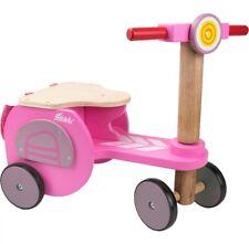 Dushi rose quatre roues en bois tricycle/walking vélo Entièrement neuf dans sa boîte